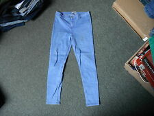 "New Look High Waist Skinny Jeans Size 14 Leg 27"" Faded Medium Blue Ladies Jeans"
