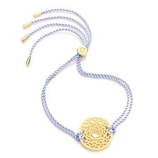 Daisy Jewellery NEW! Lilac Cord Gold Plated Crown Chakra Adjustable Bracelet