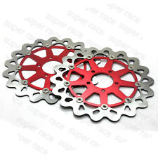 Stock Red Front Brake Disc Rotors For Suzuki GSXR 1000 2001-2002 TL1000R 1998-02