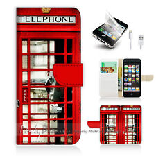 iPhone 5 5S Flip Phone Case Cover PB10096 British phone Booth