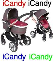 iCandy Replacement Chassi Logo Sticker black or colour  i Candy
