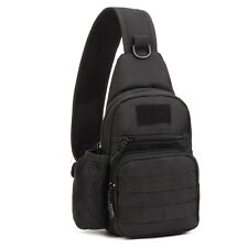 Men Nylon Military Tactical Travel Shoulder Messenger Sling Pack Chest Sport Bag