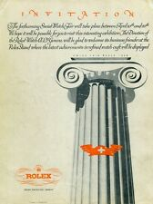 1948 Montres Rolex SA Publicite Suisse Swiss Ad Swiss Watch Fair Switzerland