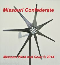 Wind turbine 500 watt 7 blade 12 volt DC output wind turbine  LOT 8 USED