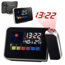 LED Digital Projection Projektor Alarm Clock Wecker Uhr Thermometer Weather New