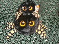 "Ty Beanie Ballz * CRAWLEY (Black spider) 5"" & clip MWMT RARE & RETIRED HTF"