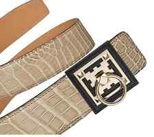 BNIB AUTHENTIC HERMES 42mm WOMEN'S BUCKLE IN BLACK CALFSKIN AND GOLD HARDWARE