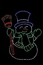 Snowman LED metal wire frame outdoor yard display decoration