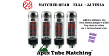 Matched Quad JJ/Tesla  EL34 - JJ Electronics vacuum valve tube set
