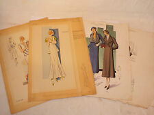 4 Gravures de Mode Paris Chic& Grand Tailleur Redfern, Atelier Bachwitz Lot n°3