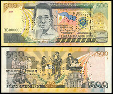 2001 Philippine New Series 500 Pesos ARROYO  PERFORATED SPECIMEN RB0000 Banknote