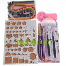 1 Set Beginner Quilling Kits Workboard,Paper,Needle and Slotted Tool,Tweezers
