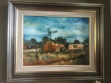 "Pro Hart ""Silverton"" Depicting Farmhouse Oil On Board Image Size 59 X 43 Sighed"