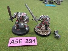 Warhammer 40k 2 oop painted metal Grey Knight Daemonhunters Terminators w/ sword