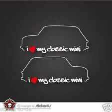 (724) 2x I Love my  Mini Cooper Classic  Sticker Aufkleber Stickerbomb