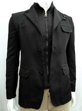 VERSACE Collection Jacket + VEST 2in1 Black Jacket Coat SZ IT48