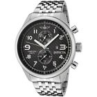 Invicta Men's 0369 II Collection Stainless Steel Black Carbon Dial Date Watch