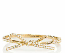 NEW kate spade bracelet skinny mini pave bow bangle gold