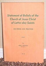 Statement of Beliefs of LDS Church Doctrines by Ariel Crowley 1961 1ED MORMON PB