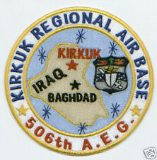 USAF BASE PATCH, KIRKUK REGIONAL AIR BASE, IRAQ, 506TH A.E.G.                  Y