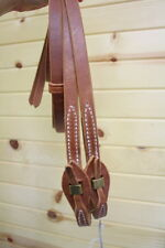Top Quality Amish Made Harness Leather Reins w/ Quick Change 7' long. Horse Tack