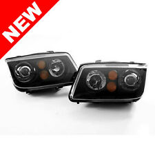 VW MK4 JETTA OEM HID REPLICA E-CODE PROJECTOR HEADLIGHTS - BLACK