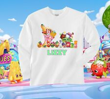 Shopkins LONG SLEEVE Tshirt Personalize Birthday gift favor Kids, Youth, Adult