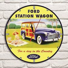 Ford Station Wagon Car Color design vinyl record wall clock home art shop garage