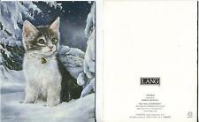 1 CHRISTMAS TABBY KITTEN SNOW WINTER SKY STAR 1 MINCEMEAT PIE THANKSGIVING PRINT