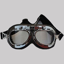 Vintage Style Motorcycle Goggles Motorbike Flying Scooter Aviator Helmet Glasses