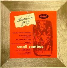"""SMALL COMBOS - CAPITOL # H322 -10"""" LP - NAT COLE, JULIA LEE, B. DE FRANCO"""