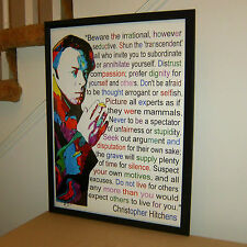 Christopher Hitchens, The Hitch, Journalist, Vanity Fair, 18x24 POSTER w/COA 3