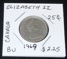 Nice 1969 Canadian 25 Nickel Cent & 1975 5 Nickel Cent 2 Coin Set (Ungraded)