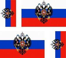 4x Adhesivo adesivi pegatina sticker vinilo bandera vinyl moto coche rusia royal