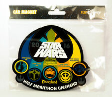 runDisney 2016 DISNEYLAND STAR WARS HALF MARATHON WEEKEND CAR MAGNET 5k 10k kids
