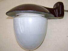 Alte Aussenlampe Hoflampe Bauhaus Art Deco Porzellan Opalglas