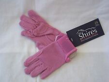 Childrens Horse Riding Gloves Pink - Large (approx 11 - 12 yrs) - Shires