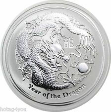2012 Dragon Silver .999 Fine 1/2 Troy Ounce Coin Australian Perth Mint Condition