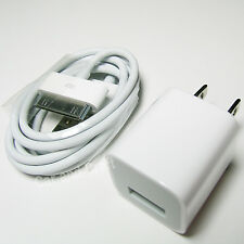 Genuine Apple iPhone 3 4 4S iPod Charger Adapter+USB Cable A1265/A1385 Original