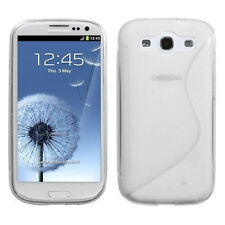 Clear Silicone Soft Rubber Protector Case Cover Samsung Galaxy S3 S 3 III i9300