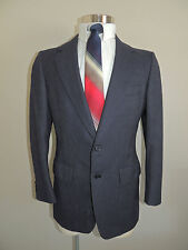 VINTAGE WALTER MORTON BLUE FLANNEL PINSTRIPE WOOL BLEND 2 BUTTON SPORT COAT 40R