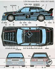 STUDIO 27 MERCEDES 190E KONIG PILSNER #6 #7 DTM (1990) DECAL for 1/24 TAMIYA
