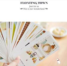 1set creative fresh and lovely small town girl floating postcard book