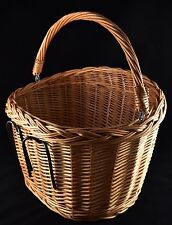 Beautiful Handcrafted Natural Wicker Bicycle Basket Bike