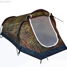 MFH 1 personas carpa túnel camping mosquitera negro montaña de camuflaje
