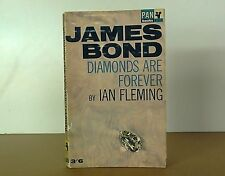 """Vintage Pan book #X235 """"Diamonds are Forever"""" by Ian Flemming"""