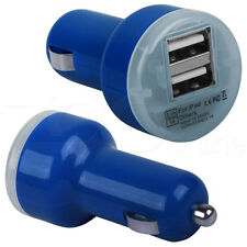 BLUE TWIN DOUBLE USB IN CAR CHARGER ADAPTER FOR XPERIA E J M S SP P T U PHONE