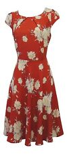 New Ladies Vintage style 1930s 40s WW2  Wartime  Floral Classic Tea dress UK 12