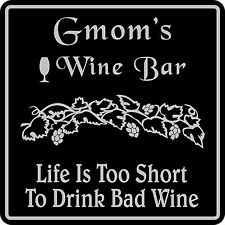 Custom Wine Sign Personalized Name Wine Tasting Bar Pub Wall Decor #2