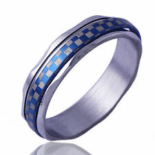 Arab type Men's  Band Promise Mood Ring White Gold Filled Size 9 Free Shipping